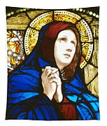 Our Lady Of Sorrows In Stained Glass Tapestry