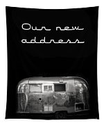 Our New Address Announcement Card Tapestry