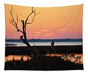Ocean City Sunset Out On A Limb Tapestry