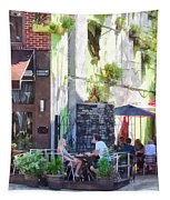 Outdoor Cafe Philadelphia Pa Tapestry