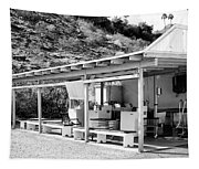 Outdoor Laundry Bw Palm Springs Tapestry
