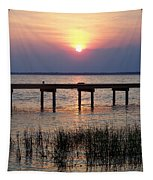 Outerbanks Nc Sunset Tapestry
