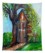 Outhouse - Privy - The Old Out House Tapestry