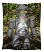 Over The Rainbow Garden Tin Man Tapestry