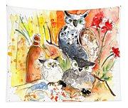 Owl Family In Velez Rubio Tapestry