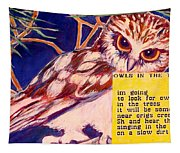 Owls In The Trees Tapestry