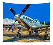 P51 Mustang  Kwitcherbitchin Tapestry
