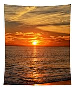 Pacific Ocean Sunset Tapestry