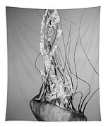 Pacific Sea Nettle - Black And White Tapestry