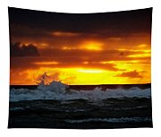 Pacific Sunset Drama Tapestry