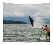 Paddle Boarders And Humpback Whale Tapestry