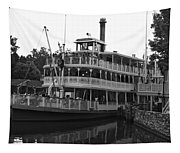 Paddle Boat Black And White Walt Disney World Tapestry