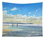 Paddling At The Edge Tapestry