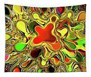 Paint Ball Color Explosion Tapestry