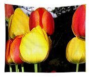 Painted Country Tulips Tapestry