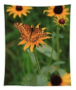 Painted Lady With Friends Tapestry
