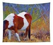 Painted Marsh Mare Tapestry