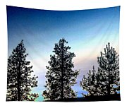 Painted Pine Tree Trio Tapestry