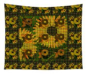 Painted Sunflower Abstract Tapestry