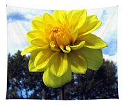 Painted Yellow Dahlia Tapestry