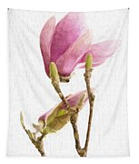 Painterly Pink Magnolia Tapestry