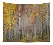 Painting Of Trees In A Forest In Autumn Tapestry