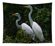 Pair Of Herons Tapestry