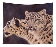 Pair Of Snow Leopards Tapestry