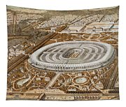 Palace Of The Universal Exhibition In Paris Tapestry