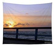 Palanga Sea Bridge At Sunset. Lithuania Tapestry