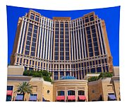 Palazzo Las Vegas Front View Tapestry