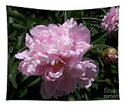 Pale Pink Peony Watercolor Effect Tapestry