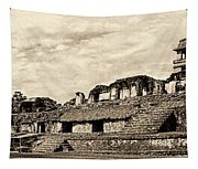 Palenque Panorama Sepia Tapestry