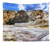 Palette Spring Terrace Panorama - Yellowstone National Park Wyoming Tapestry