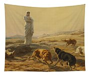 Pallas Athena And The Herdsmans Dogs Tapestry