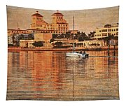 Palm Beach At Golden Hour Tapestry