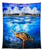 Palm Beach Under And Over Tapestry