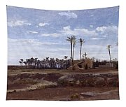 Palm Forest In Elche Tapestry