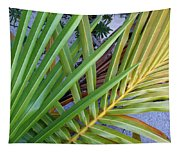 Palm Leaf Abstract Tapestry