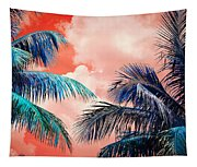 Palmscape Red Tapestry