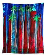 Palm Springs Nocturne Original Painting Tapestry