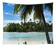 Palm Trees On The Beach, Rangiroa Tapestry
