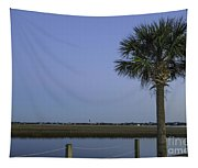Palmetto View Of Lighthouse Tapestry