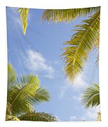 Palms And Sky Tapestry
