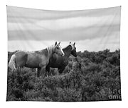 Palomino - Buttes - Wild Horses - Bw Tapestry