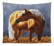Palomino Horse - Gold Horse Meadow Tapestry