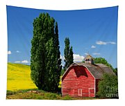 Palouse Weathered Barn Tapestry