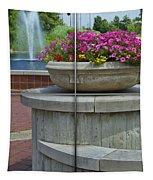 Sample Paneled Concrete Flower Pot Tapestry