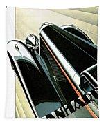 Panhard Car Advertisement Tapestry
