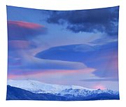 Panoramic Lenticular Clouds Over Sierra Nevada National Park Tapestry